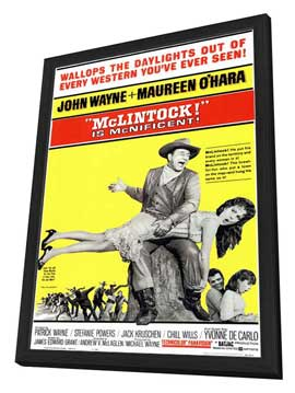 McLintock! - 11 x 17 Movie Poster - Style A - in Deluxe Wood Frame