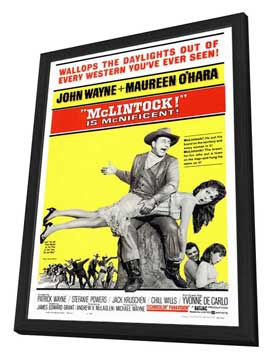 McLintock! - 27 x 40 Movie Poster - Style A - in Deluxe Wood Frame