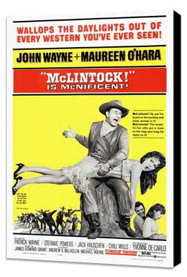 McLintock! - 27 x 40 Movie Poster - Style A - Museum Wrapped Canvas