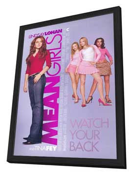Mean Girls - 11 x 17 Movie Poster - Style A - in Deluxe Wood Frame