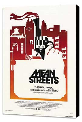 Mean Streets - 27 x 40 Movie Poster - Style B - Museum Wrapped Canvas