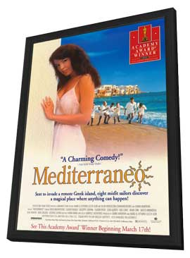 Mediterraneo - 11 x 17 Movie Poster - Style A - in Deluxe Wood Frame