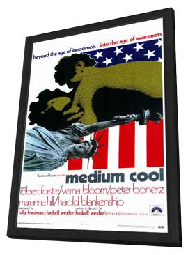 Medium Cool - 11 x 17 Movie Poster - Style A - in Deluxe Wood Frame