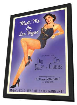 Meet Me in Las Vegas - 11 x 17 Movie Poster - Style A - in Deluxe Wood Frame