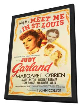 Meet Me in St. Louis - 11 x 17 Movie Poster - Style B - in Deluxe Wood Frame