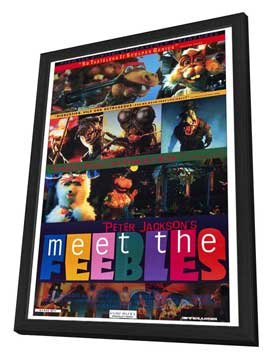 Meet the Feebles - 27 x 40 Movie Poster - Style A - in Deluxe Wood Frame