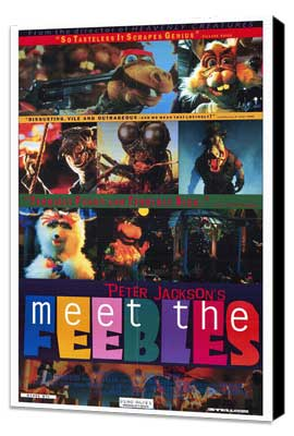 Meet the Feebles - 27 x 40 Movie Poster - Style A - Museum Wrapped Canvas