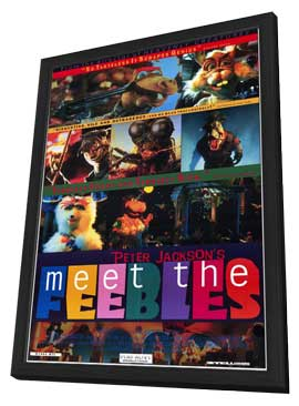 Meet the Feebles - 11 x 17 Movie Poster - Style A - in Deluxe Wood Frame