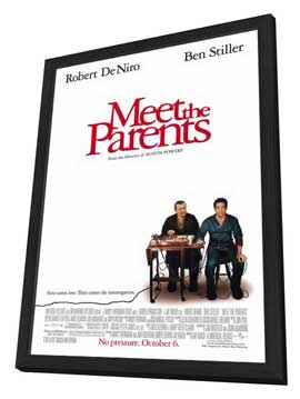 Meet the Parents - 27 x 40 Movie Poster - Style A - in Deluxe Wood Frame