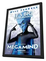 Megamind - 11 x 17 Movie Poster - Style B - in Deluxe Wood Frame