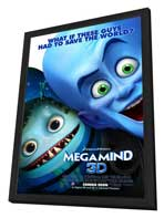 Megamind - 27 x 40 Movie Poster - Style E - in Deluxe Wood Frame