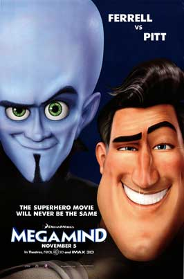 Megamind - 43 x 62 Movie Poster - Bus Shelter Style A