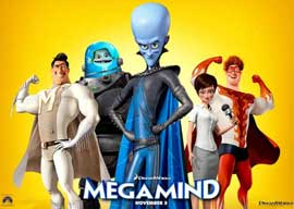 Megamind - 11 x 17 Movie Poster - Style Q