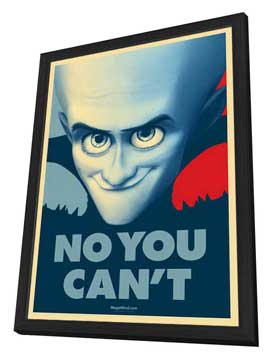 Megamind - 11 x 17 Movie Poster - Style O - in Deluxe Wood Frame