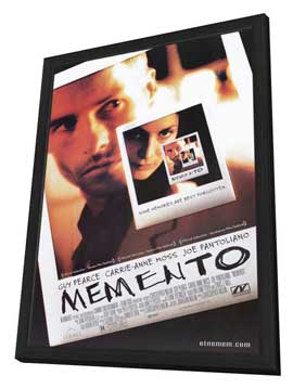 Memento - 11 x 17 Movie Poster - Style A - in Deluxe Wood Frame