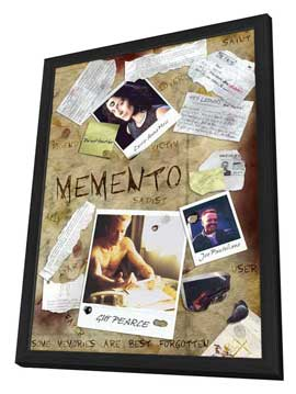 Memento - 11 x 17 Movie Poster - Style B - in Deluxe Wood Frame