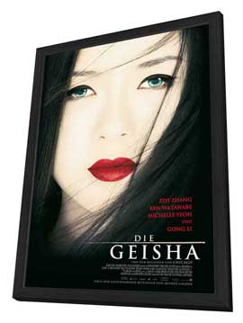 Memoirs of a Geisha - 27 x 40 Movie Poster - German Style A - in Deluxe Wood Frame