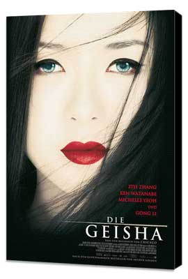 Memoirs of a Geisha - 27 x 40 Movie Poster - German Style A - Museum Wrapped Canvas