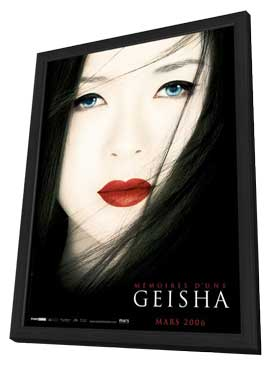 Memoirs of a Geisha - 27 x 40 Movie Poster - French Style A - in Deluxe Wood Frame