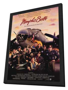 Memphis Belle - 27 x 40 Movie Poster - Style A - in Deluxe Wood Frame