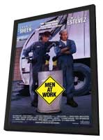Men at Work - 27 x 40 Movie Poster - Style A - in Deluxe Wood Frame