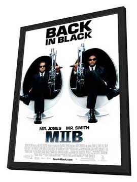 Men in Black 2 - 11 x 17 Movie Poster - Style F - in Deluxe Wood Frame