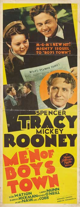 Men of Boys Town - 14 x 36 Movie Poster - Insert Style A
