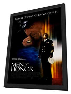Men of Honor - 27 x 40 Movie Poster - Style B - in Deluxe Wood Frame
