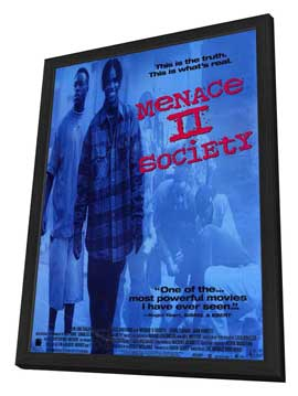 Menace II Society - 11 x 17 Movie Poster - Style A - in Deluxe Wood Frame