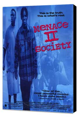 Menace II Society - 11 x 17 Movie Poster - Style A - Museum Wrapped Canvas