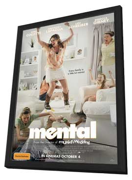 Mental - 11 x 17 Movie Poster - Australian Style A - in Deluxe Wood Frame