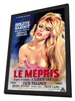 Le Mepris - 27 x 40 Movie Poster - Style A - in Deluxe Wood Frame