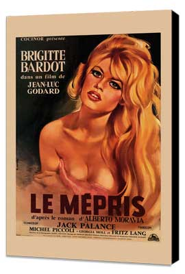 Le Mepris - 11 x 17 Movie Poster - Style B - Museum Wrapped Canvas