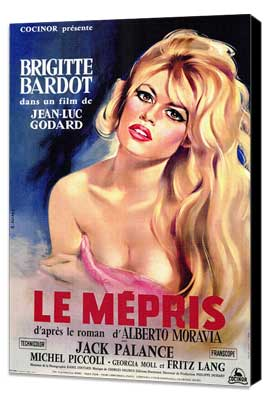 Le Mepris - 27 x 40 Movie Poster - Style A - Museum Wrapped Canvas