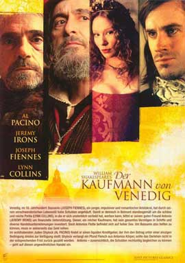 Merchant of Venice - 11 x 14 Poster German Style D