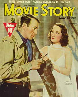 Merle Oberon - 11 x 17 Movie Story Magazine Cover 1930's
