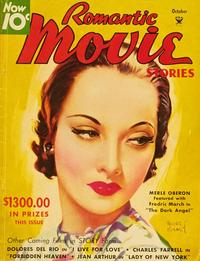 Merle Oberon - 11 x 17 Romantic Movie Stories Magazine Cover 1930's Style B