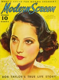 Merle Oberon - 27 x 40 Movie Poster - Modern Screen Magazine Cover 1930's Style B