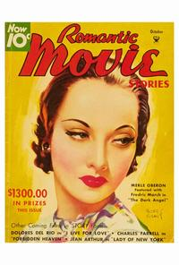 Merle Oberon - 27 x 40 Movie Poster - Romantic Movie Stories Magazine Cover 1930's Style B