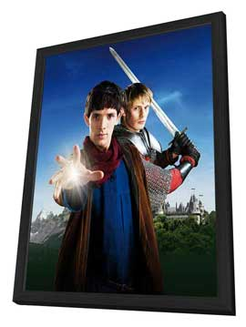 Merlin (TV) - 11 x 17 TV Poster - Style A - in Deluxe Wood Frame