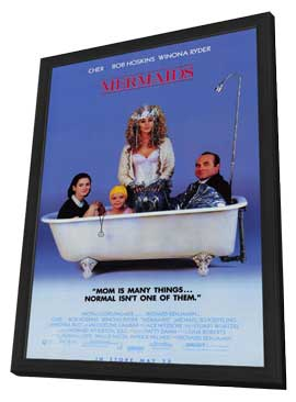Mermaids - 27 x 40 Movie Poster - Style A - in Deluxe Wood Frame