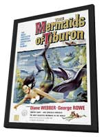 Mermaids of Tiburon - 27 x 40 Movie Poster - Style A - in Deluxe Wood Frame