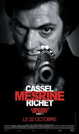 Mesrine: Killer Instinct - 27 x 40 Movie Poster - French Style B