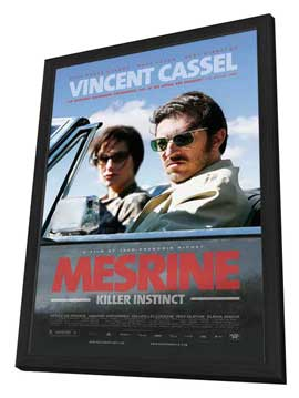 Mesrine: Killer Instinct - 27 x 40 Movie Poster - Style B - in Deluxe Wood Frame