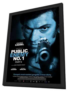 Mesrine: Part II - Public Enemy #1 - 11 x 17 Movie Poster - Style A - in Deluxe Wood Frame