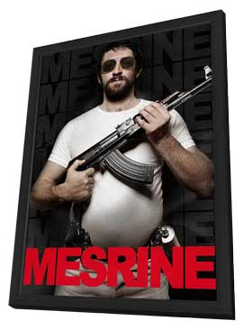 Mesrine: Public Enemy No. 1 - 11 x 17 Movie Poster - Style A - in Deluxe Wood Frame