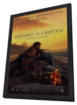 Message in a Bottle - 11 x 17 Movie Poster - Style A - in Deluxe Wood Frame