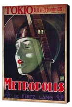 Metropolis - 27 x 40 Movie Poster - French Style B - Museum Wrapped Canvas