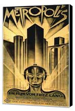 Metropolis - 20 x 40 Movie Poster - German Style A - Museum Wrapped Canvas