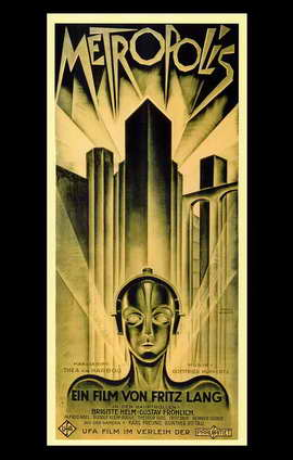 Metropolis - 11 x 17 Movie Poster - German Style B